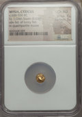 Ancients:Greek, Ancients: MYSIA. Cyzicus. Ca. 600-550 BC. EL 1/24 stater ormyshemihecte (0.63 gm). NGC Choice AU 4/5 - 3/5, scuff....