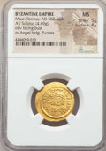 Ancients:Byzantine, Ancients: Maurice Tiberius (AD 582-602). AV solidus (4.49 gm). NGCMS 5/5 - 4/5. ...