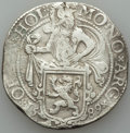 Netherlands:Holland, Netherlands: Holland. Provincial Lion Daalder 1589 XF - Surface Hairlines, Small Flan Flaw,...
