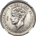 British West Africa, British West Africa: George VI stainless steel Trial StrikeShilling 1952 MS66 NGC...
