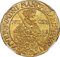 German States:Saxony, German States: Saxony. Johann Georg I gold Ducat 1617 MS62 NGC,...