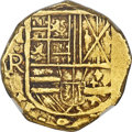 Colombia, Colombia: Charles II gold Cob 2 Escudos ND (1667-1693)-NR AU55NGC,...