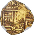 Colombia, Colombia: Philip IV gold Cob 2 Escudos ND (1653-1660)-R AU55NGC,...