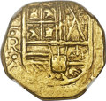 Colombia, Colombia: Charles II gold Cob 2 Escudos ND (1667-1693)-NR MS61 NGC,...