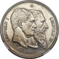 "Belgium, Belgium: Leopold II silver ""50th Anniversary of Independence""Specimen 5 Francs 1880 SP67 NGC,..."
