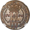Azores, Azores: Jose I 3 Reis 1750 MS65 Brown NGC,...