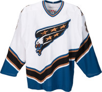 """2005-06 Alexander Ovechkin Game Worn Washington Capitals Rookie Jersey from """"The Goal""""--Photo Matched to Later..."""