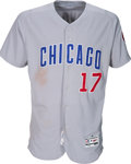 Baseball Collectibles:Uniforms, 2017 Kris Bryant Game Worn Chicago Cubs Jersey with Multiple PhotoMatches....