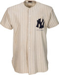 Baseball Collectibles:Uniforms, 1943 Billy Johnson Game Worn New York Yankees Rookie Jersey.. ...