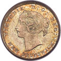 """Canada:New Brunswick, Canada: New Brunswick. Victoria """"Small 6"""" 5 Cents 1864 MS65PCGS,..."""