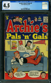 Archie's Pals 'n' Gals #5 (Archie, 1957) CGC VG+ 4.5 OFF-WHITE pages