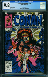 Conan the Barbarian #152 (Marvel, 1983) CGC NM/MT 9.8 OFF-WHITE TO WHITE pages