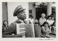 Photographs:Gelatin Silver, Edward Clark (American, 1912-2000). C.P.O. Graham Jackson, WarmSprings, Georgia, mourning the death of FDR, April 23, 1...