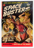 Golden Age (1938-1955):Science Fiction, Space Busters #1 (Ziff-Davis, 1952) Condition: VG+....