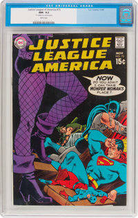 Justice League of America #75 (DC, 1969) CGC NM- 9.2 White pages
