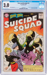 The Brave and the Bold #25 Suicide Squad (DC, 1959) CGC GD/VG 3.0 Light tan pages