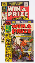 Golden Age (1938-1955):Miscellaneous, Win A Prize Comics #1 and 2 Group (Charlton, 1955).... (Total: 2 Comic Books)