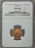 Proof Indian Cents, 1876 1C PR65 Red NGC....