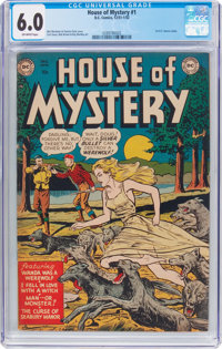 House of Mystery #1 (DC, 1952) CGC FN 6.0 Off-white pages