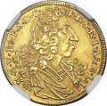 German States:Bavaria, German States: Bavaria. Maximilian II Emanuel Goldgulden 1702 MS64NGC...