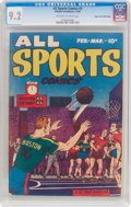 Golden Age (1938-1955):Miscellaneous, All Sports Comics #3 Mile High Pedigree (Hillman Publications, 1949) CGC NM- 9.2 Off-white to white pages....