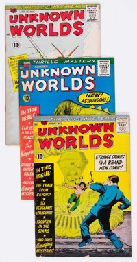 Unknown Worlds Group of 38 (ACG, 1960-67) Condition: Average VG-.... (Total: 38 Comic Books)