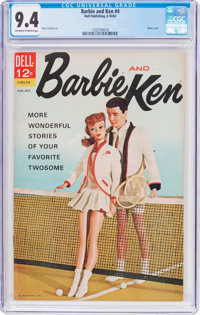 Barbie and Ken #4 (Dell, 1963) CGC NM 9.4 Off-white to white pages