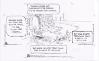 Wiley Miller Non-Sequitur Original Art Comic Strip dated 11-23-17 (Andrews McMeel Syndication, 2017)