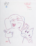 Original Comic Art:Illustrations, Mo Willems - Elephant and Piggy Poster Illustration Original Art(2015)....