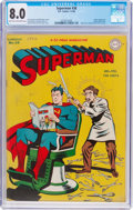 Golden Age (1938-1955):Superhero, Superman #38 (DC, 1946) CGC VF 8.0 Light tan to off-white pages....