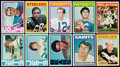 Football Cards:Sets, 1972 Topps Football Complete Low Number Set (263). ...