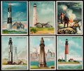 "Non-Sport Cards:Sets, 1911 T77 Hassan Cigarettes ""Lighthouse"" Complete Set (50). ..."