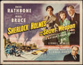 """Movie Posters:Crime, Sherlock Holmes and the Secret Weapon (Universal, 1942). Half Sheet(22"""" X 28""""). Crime.. ..."""
