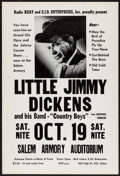 Movie Posters:Musical, Little Jimmy Dickens at the Salem Armory Auditorium & Other Lot(Radio KGAY and EJD Enterprises, 1968). Concert Window Card ...(Total: 2 Items)