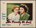 "Movie Posters:War, So Proudly We Hail (Paramount, 1943). Lobby Card (11"" X 14""). War....."