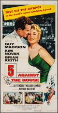 "Movie Posters:Film Noir, 5 Against the House (Columbia, 1955). Three Sheet (41"" X 80""). FilmNoir.. ..."