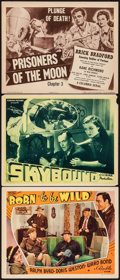 "Movie Posters:Action, Born to Be Wild & Others Lot (Republic, 1938). Lobby Cards (2)& Title Lobby Card (11"" X 14""). Action.. ... (Total: 3 Items)"