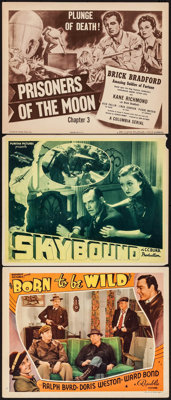 "Born to Be Wild & Others Lot (Republic, 1938). Lobby Cards (2) & Title Lobby Card (11"" X 14"")..."