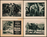 "Breaking Through (Vitagraph, 1921). Fine+. Title Lobby Card & Lobby Cards (3) (11"" X 14"") Chapters 6..."