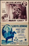 """Movie Posters:Serial, The Devil Horse (Mascot, 1932). Title Lobby Card & Lobby Card (11"""" X 14"""") Chapters 7 & 8. Serial.. ... (Total: 2 Items)"""