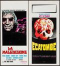 "Movie Posters:Horror, And Now the Screaming Starts! & Other Lot (Cinerama Releasing,1973). Italian Locandinas (2) (13.25"" X 27.5"" & 11.75""..."