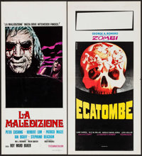 """And Now the Screaming Starts! & Other Lot (Cinerama Releasing, 1973). Italian Locandinas (2) (13.25"""" X 27.5..."""