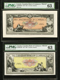 Canadian Currency, Toronto, ON- Canadian Bank of Commerce $10 Jan. 2, 1917 Ch. #75-16-04-08aP and $20 Jan. 2, 1917 Ch. # 75-16-04-16P Face Pro...(Total: 2 notes)