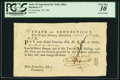 Miscellaneous, Connecticut Pay Table Office £1.10s September 20, 1781 PCGS Very Fine 30.. ...
