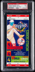 Baseball Collectibles:Tickets, 1999 World Series Game 4 Full Ticket PSA Mint 9 - New York YankeesWin 25th World Series Title!...