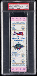 Baseball Collectibles:Tickets, 1992 World Series Game 6 Full Ticket PSA Mint 9 - Toronto ...
