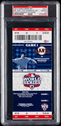 Baseball Collectibles:Tickets, 2012 World Series Game 1 Full Ticket PSA Gem Mint 10 - Pab...