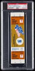 Baseball Collectibles:Tickets, 1985 World Series Game 7 Full Ticket PSA NM-MT 8 - Kansas CityRoyals First World Series Title!...