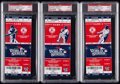 Baseball Collectibles:Tickets, 2013 World Series Game 1, 2 and 6 Full Tickets PSA Gem Mint 10Graded Lot of 3....