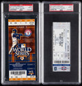 Baseball Collectibles:Tickets, 2010 & 2012 World Series Full Ticket PSA Gem Mint 10 Lot of 2 -San Francisco Giants Clinch!...
